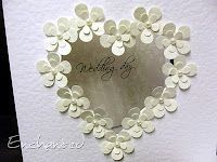 white on white flower heart