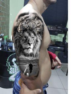 tattoo leao intra - My list of best tattoo models Tattoo Arm Mann, Lion Arm Tattoo, Lion Shoulder Tattoo, Lion Tattoo Sleeves, Lion Head Tattoos, Lioness Tattoo, Mens Lion Tattoo, Lion Tattoo Design, Arm Sleeve Tattoos