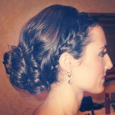Bridesmaid braided Updo done by Imana Hair Studio!