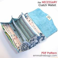 Just finished making this and it is amazing!!!!  Extremely well written pattern. The Necessary Cluch Wallet ePattern - Emmaline Bags and Patterns