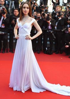Best Dressed Stars on Cannes Red Carpet 2017 - Lily Collins in a Ralph & Russo dress