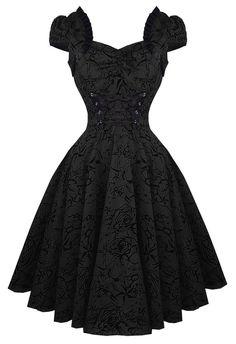 Hearts & Roses Charmant Black Dress Tattoo Rockabilly Retro Pinup 50's Swing #HeartsandRoses