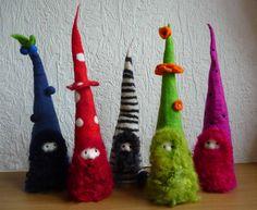 felted fairy gnome handmade wool felt von FeltedArtToWear auf Etsy