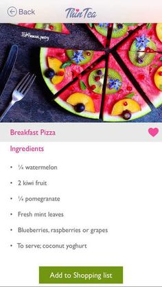 """Breakfast Pizza:  Download our FREE ThinTea Recipe App for this #CleanEating Recipe & more!! Simply search in the App Store: """"ThinTea"""""""