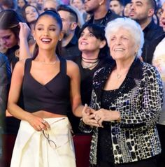 Ariana, Nonna, her Mom at the AMA's 2016