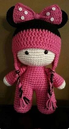 Crochet giraffe big head doll made to order – Artofit