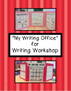 """Writing Tools for Writing Workshop: I first made a set for summer school last year and it was a hit. Everyone loved them. I taught 3rd & 4th for summer school so I have a couple of pages that have different versions due to my grade assignment this year for 2nd grade. I tweaked a couple pages for primary but kept the old ones. At """"Meet the Teacher"""" a.k.a. Open House I had them on desks. Use as a personal desk reference or in centers for use as a writing or literacy center. #writingoffice"""