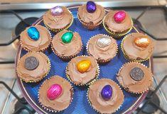 Vegan Chocolate Cupcake Recipe Vegan Chocolate Cupcakes, Dairy Free Chocolate, Easter Chocolate, Cupcake Tray, Cupcake Cases, Dairy Free Spread, Dairy Free Eggs, Mini Eggs, Chocolate Decorations