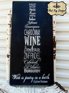 Personalized Wine Sign Wall Art in Shape of Wine Bottle for Wine Cellar par MadiKayDesigns sur Etsy https://www.etsy.com/fr/listing/178717168/personalized-wine-sign-wall-art-in-shape