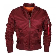 ALPHA Industries MA-1 Herren Jacke Burgundy