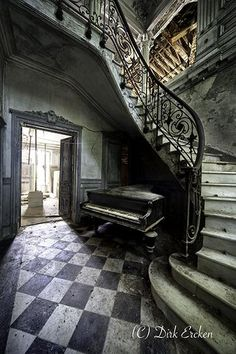 Abandoned Photograph - Forgotten Ancient Piano - Urban Exploration by Dirk Ercken Abandoned Ohio, Abandoned Hospital, Old Abandoned Houses, Abandoned Mansions, Abandoned Buildings, Abandoned Places, Old Houses, Old Mansions, Places In Europe