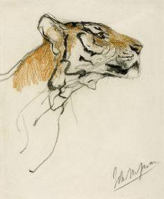 wasbella102:  John Macallan Swan: Head of a Tiger