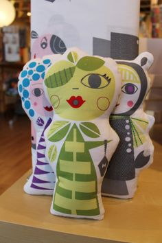 Suzy Ultman fabric dolls.