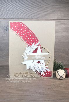 Merry Christmas Message, Christmas Card Crafts, Stampin Up Christmas, Christmas Greeting Cards, Holiday Cards, Christmas Wreaths, Christmas Tree, Star Cards, Stamping Up Cards