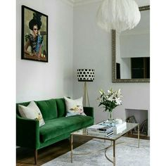 All you need is a statement sofa! #livingroom #green #interiors #accessories #eclectic #blogging #anotherhomeblog