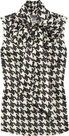 Alexander Mcqueen Houndstooth Pussybow Shirt in White (black) Designer Clothes Sale, Discount Designer Clothes, Houndstooth Shirt, Bow Shirts, Love Fashion, Womens Fashion, Winter Fashion, Bow Tops, Work Attire