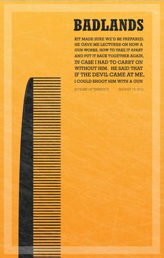 Badlands poster  Designed by Chris Rutherford
