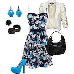 blue chic, created by victoria12897 on Polyvore