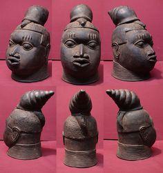 Benin Bronze with Snail