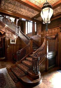 Carved Wood Staircase