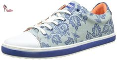 Desigual Supper Happy Decoflowers, Sneakers Basses Femme, Bleu (Blue 5098), 37 EU - Chaussures desigual (*Partner-Link)