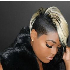 New Short Hair Styles for Black Women Mar 2017 admin Frisuren, Kurzhaar Frisuren 0 Pretty black ladies, you will find your own style right her. Shaved Side Hairstyles, African Hairstyles, Hairstyles With Bangs, Shaved Side Haircut, 27 Piece Hairstyles, Hairstyles 2018, Undercut Hairstyles, Short Sassy Hair, Short Hair With Bangs