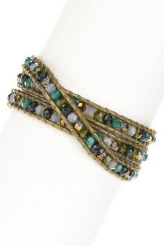 Gemstone beaded wrap bracelet - HauteLook.com