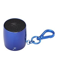 MixBin In My Dreams Key Chain Bluetooth Speaker | zulily  . $9.99 $35.00 Product Description:  Small yet mighty, this sleek Bluetooth speaker clips to your keys for a quick and portable way to enjoy tunes on the go via a cord-free connection.      1.5'' H x 1.25'' diameter     Bluetooth range: 30'     20Hz to 20kHZ     500 mA     2 W     Charge time: 4 hours     Playback per charge: 2.5 hours     Wireless Bluetooth     Imported