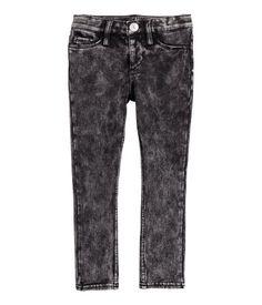 Super Soft Skinny Fit Jeans | Zwart washed out | Kinderen | H&M NL