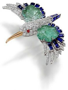 "Broche-pince ""Martin-Pêcheur"" 1941, Collection Cartier -                       Clip-brooch"" Kingfisher "" 1941,Cartier Collection-"