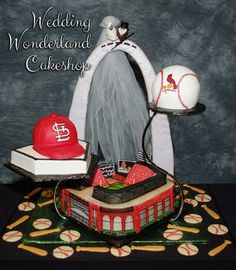 Busch Stadium Grooms Cake from Wedding Wonderland Cakes in St. Louis, Missouri