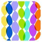 Square Multicolored Birthday Paper Snack Plate-TARGET