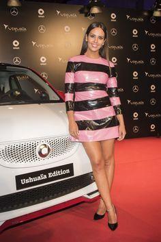 Cristina Pedroche vestida por Maya Hansen en el evento de presentación del nuevo Smart Ushuaïa Ibiza en Madrid.