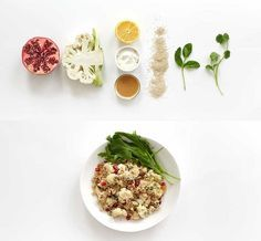 1. Caramelized Cauliflower   Crispy Coconut Quinoa