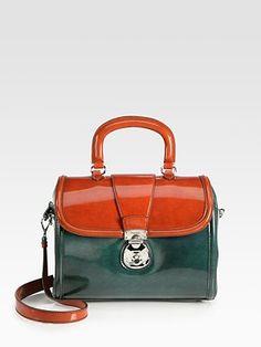 Miu Miu - Colorblock Top Handle Bag - Saks.com