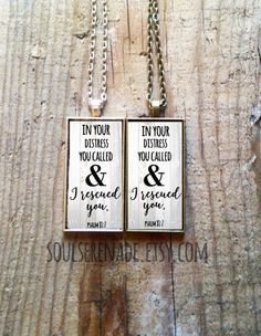Scripture Necklace Scripture Jewelry Christian Gift Christian Bible Verse Necklace Psalm 81:7 Spiritual Quote