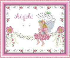 Little angel birth certificate (2), counted printed on fabric 14CT 11CT Cross Stitch kits,embroidery needlework Sets Home Decor