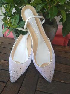 Φλατ Μυτερά, Χειροποίητα Νυφικά παπούτσια White Bridal Shoes, Wedding Shoes, Flats, Heels, Fashion, Bhs Wedding Shoes, Loafers & Slip Ons, Heel, Moda