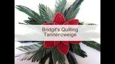 Bridgits Quilling Tannenzweige (mit NEUE Quilling Zick-Zack-Technik - Vi...