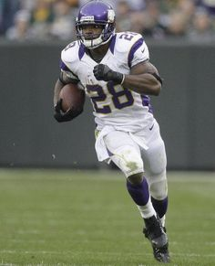Adrian Peterson,Vikings running back.    One hell of a running back!!