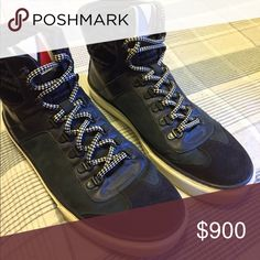 """Louis Vuitton """"Breaking Away"""" Sneaker Boot Fall/Winter 2012. Made of luxurious suede and leather. Perfect for cold weather styles. The knitted ankle padding is 100% wool. Mountaineering inspired design. Louis Vuitton Shoes Sneakers"""