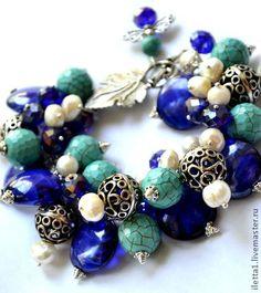 """Браслет """"Цветение природы"""" (Агат,кристаллы) - модный браслет,подарок,подарок девушке"""