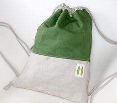 81e217b662d68 Rucksäcke - Turnbeutel Rucksack Stoffbeutel backpack greenery2 - ein  Designerstück von lucieandcate bei DaWanda