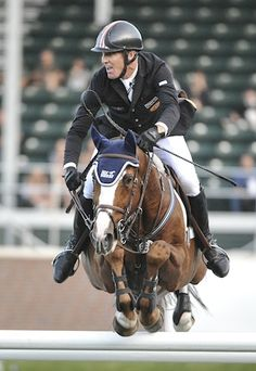Ice Horse sponsored rider, Rich Fellers and Flexible. Love the Ear Bonnet!!