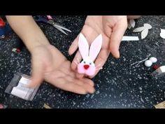 Coelhinho da Páscoa para decorar, laços, embalagens, ponteira de lápis - YouTube