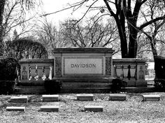 The Davidson Brothers Arthur Davidson, Walter Davidson and William A. Davidson, along with William S. Harley founded the phenomenon which is the Harley-Davidson Motor Company. Forest Home Cemetery Milwaukee, WI Harley Panhead, Harley Davidson Motorcycles, Forest House, Motor Company, Rear View, Milwaukee, Cemetery