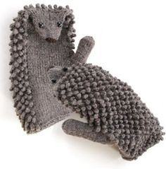 Hedgehog Mittens Knit.  Would be so cute for the little girls.