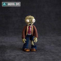 """Häkelanleitung für Zombie aus """"Pflanzen gegen Zombies"""" von AradiyaToys bei Makerist"""