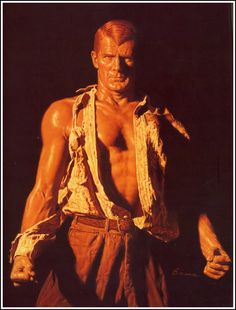 Bama's first pic of Doc Savage - Before they made him change Doc's hair. #DocSavage #SuperHeroes