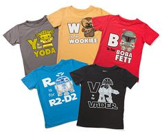 Star Wars kids and baby tees on Think Geek. Love these!